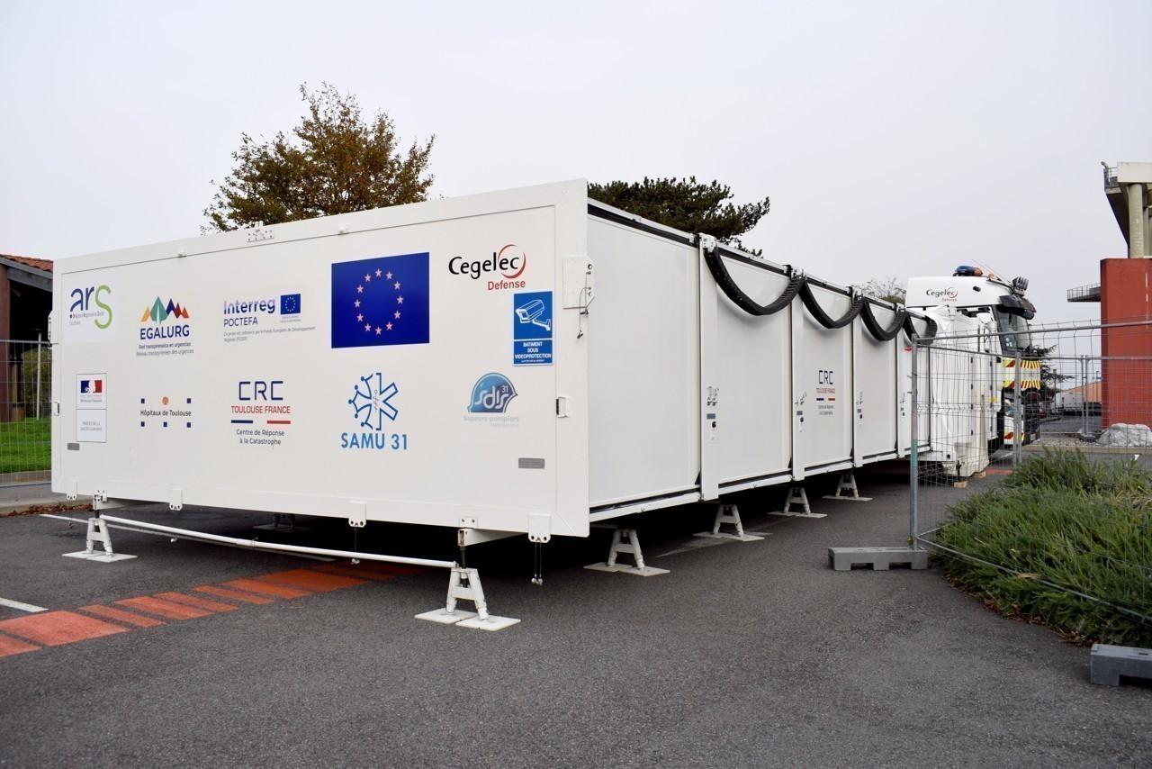 مستشفى متنقل لعلاج كورونا فى فرنسا