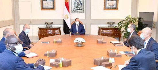 الرئيس عبد الفتاح السيسى خلال الاجتماع