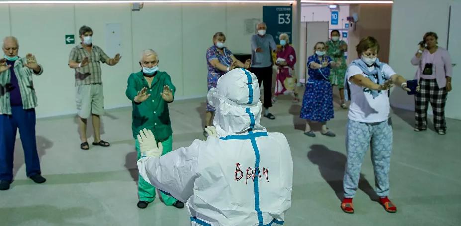 علاج طبيعي للمصابين فى المستشفى الروسى