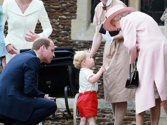 الملكة إليزابيث وجورج