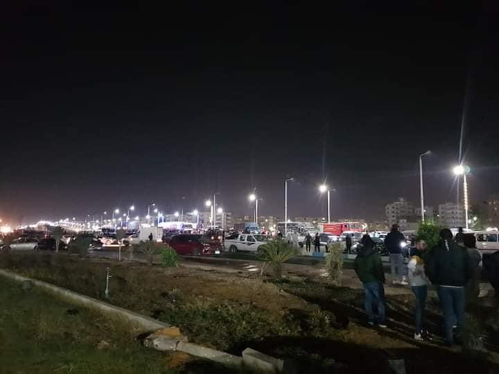 حادث تصادم بطريق السلام بالسويس (6)