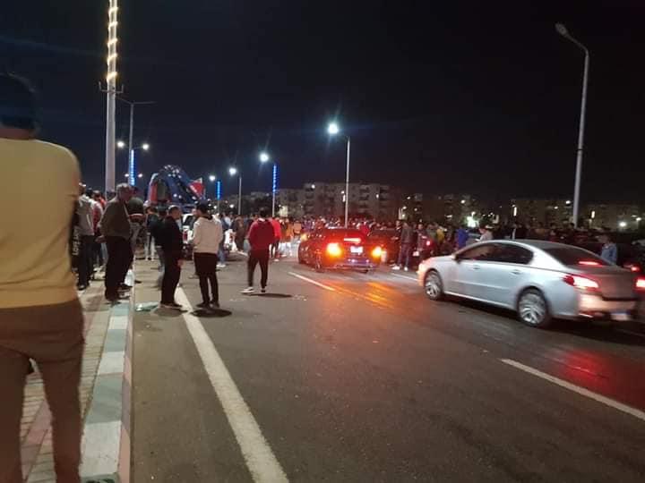 حادث تصادم بطريق السلام بالسويس (9)