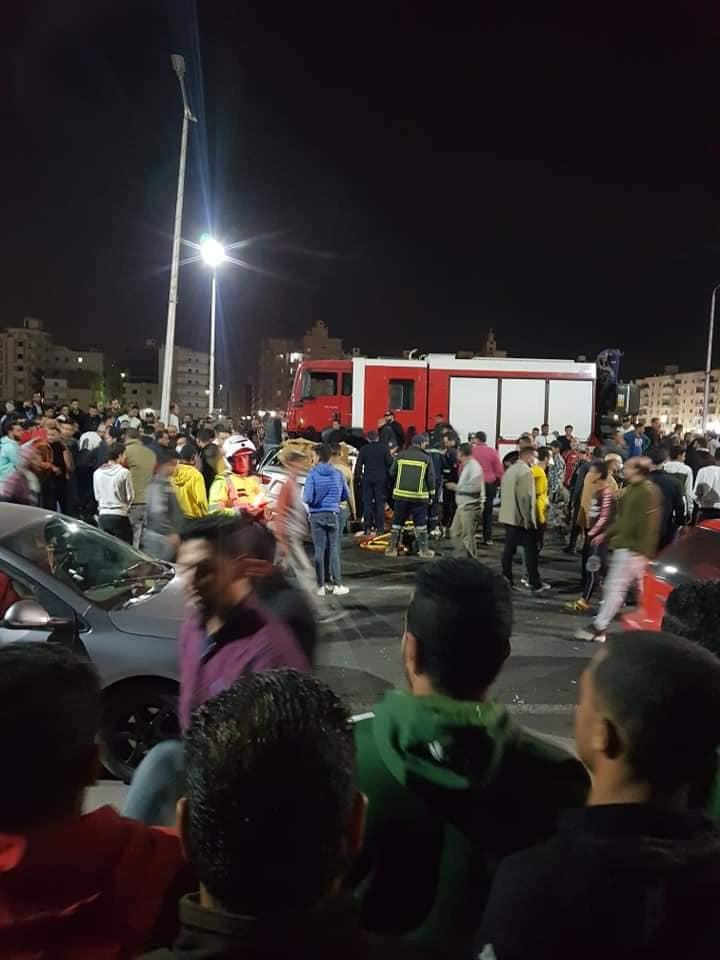 حادث تصادم بطريق السلام بالسويس (10)