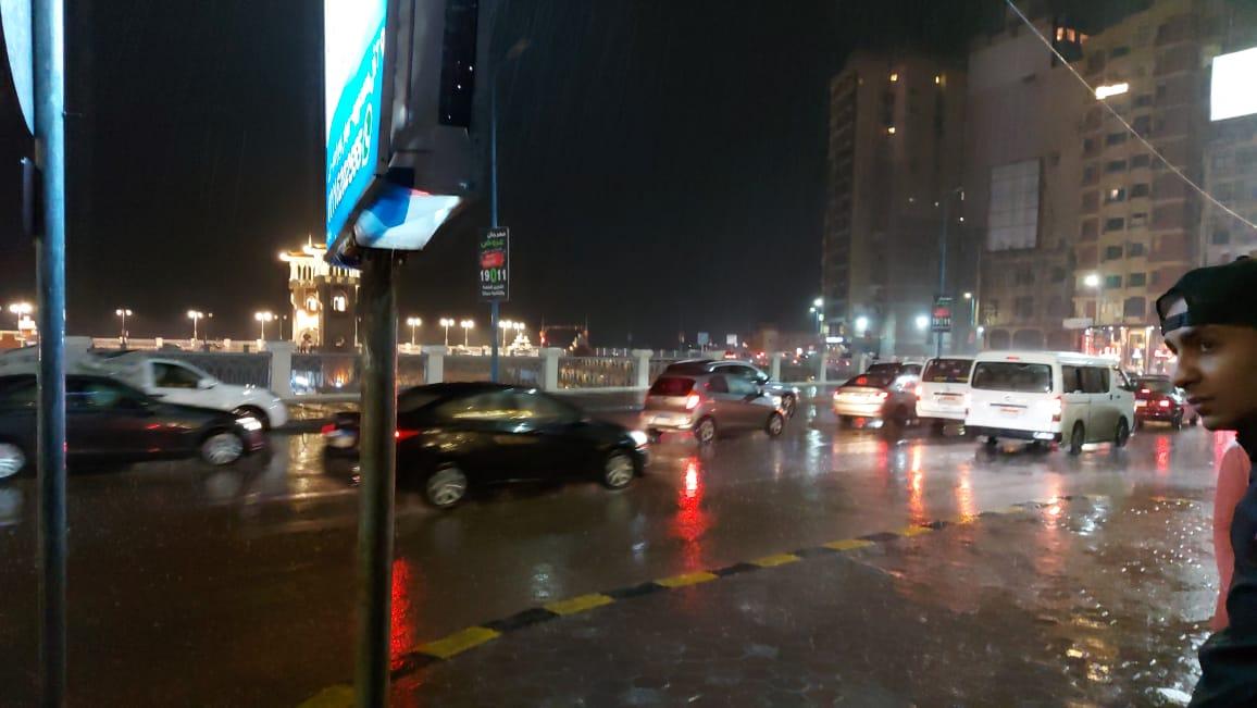أمطار بالإسكندرية