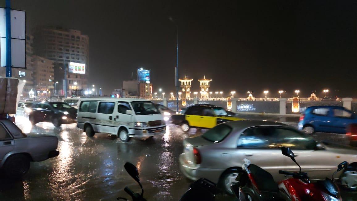 هطول أمطار بالإسكندرية