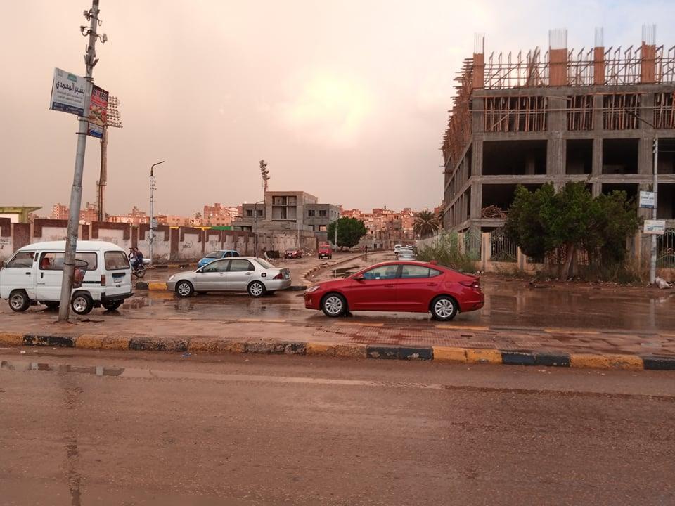 أمطار متوسطة بمدينة بنها