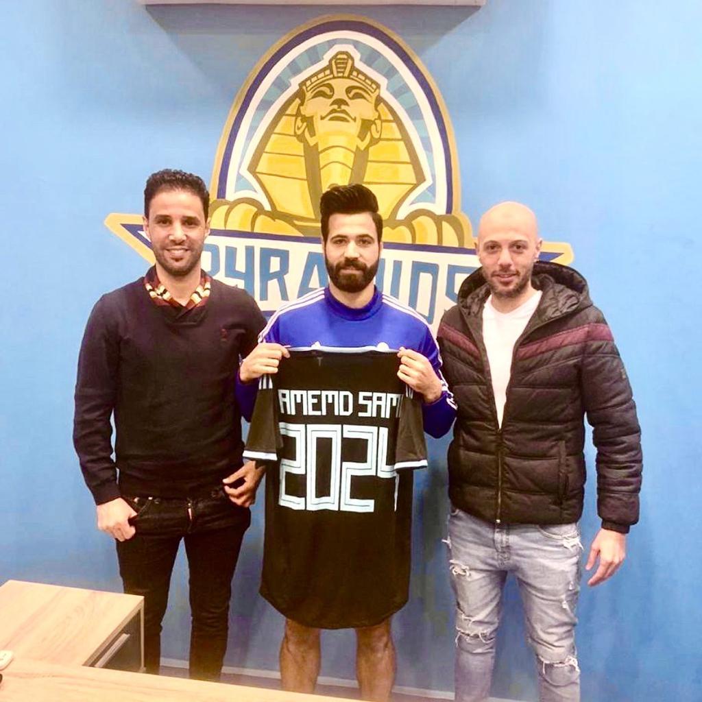 احمد سامي مع وكيله