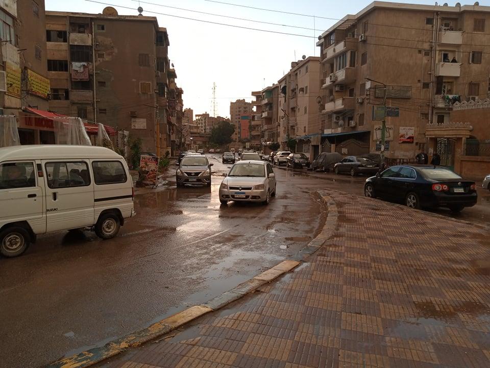 سقوط الأمطار بالقليوبية