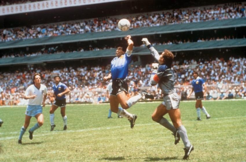 هدفه باليد فى مرمى إنجلترا بكأس العالم 1986