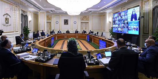 اجتماع مجلس الوزراء، الذي انعقد بتقنية فيديو كونفرانس (6)