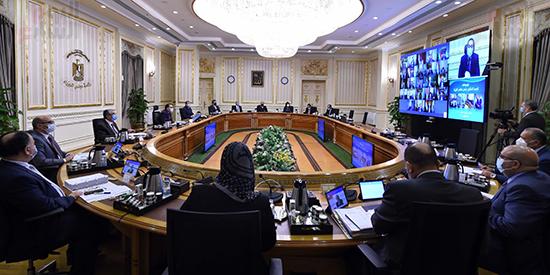 اجتماع مجلس الوزراء، الذي انعقد بتقنية فيديو كونفرانس