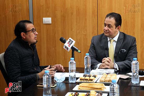 النائب علاء عابد ودندراوي الهواري رئيس التحرير التنفيذي باليوم السابع