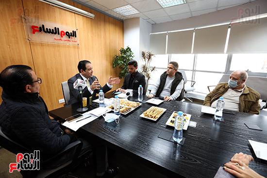 جانب من ندوة اليوم السابع مع النائب علاء عابد