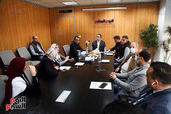 النائب علاء عابد خلال مشاركتة بمبادرة البرلمان والناس