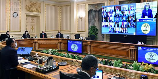 اجتماع مجلس الوزراء، الذي انعقد بتقنية فيديو كونفرانس (5)