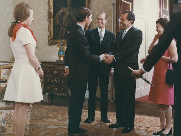 مع الرئيس نيكسون