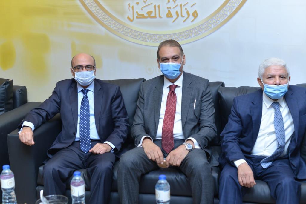 المستشار عمر مروان والمستشار علاء فؤاد