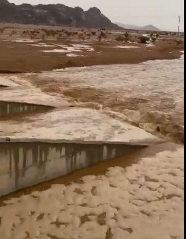 أمطار غزيرة في السعودية