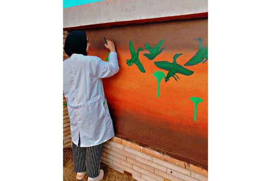 إبداع طلبة كلية التربية النوعية يزين جدران محافظة كفر الشيخ (2)