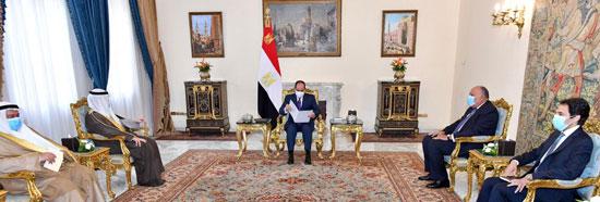 السيسى يتسلم رسالة من أمير الكويت (3)