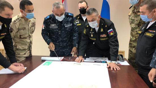 ختام فعاليات التدريب البحرى المصرى الروسى المشترك  جسر الصداقة - 3  (1)