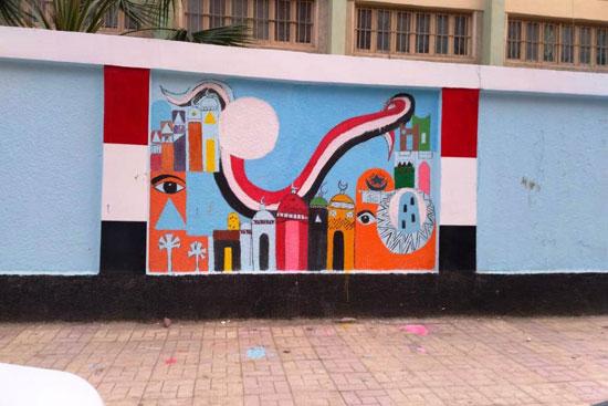 إبداع طلبة كلية التربية النوعية يزين جدران محافظة كفر الشيخ (10)
