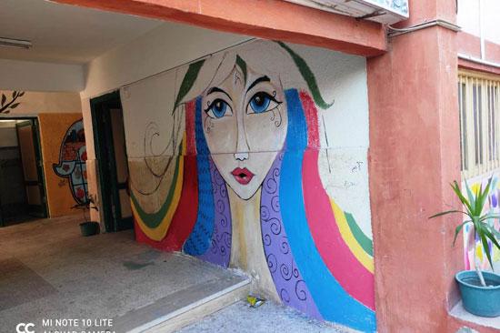 إبداع طلبة كلية التربية النوعية يزين جدران محافظة كفر الشيخ (15)