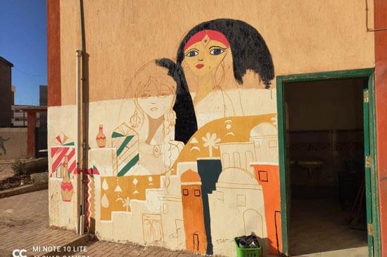إبداع طلبة كلية التربية النوعية يزين جدران محافظة كفر الشيخ (20)