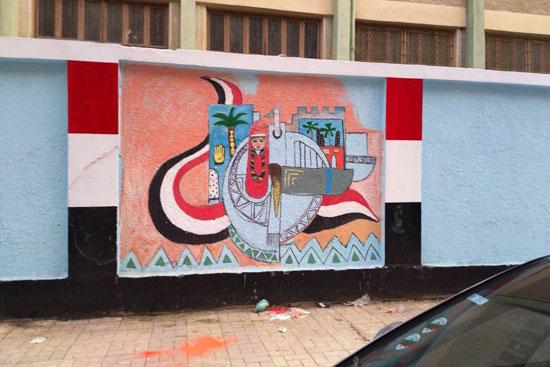 إبداع طلبة كلية التربية النوعية يزين جدران محافظة كفر الشيخ (19)