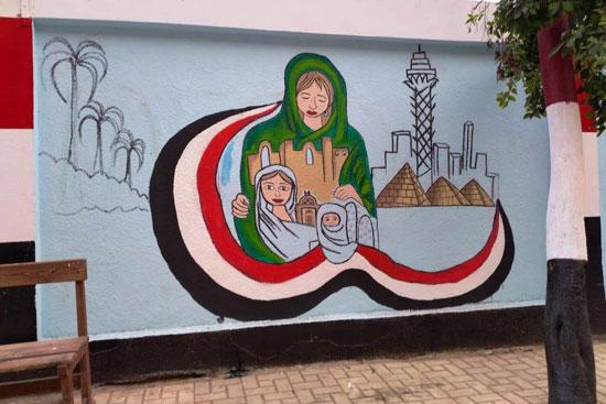 إبداع طلبة كلية التربية النوعية يزين جدران محافظة كفر الشيخ (14)