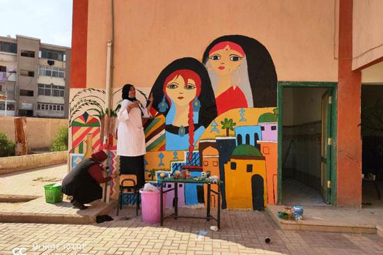 إبداع طلبة كلية التربية النوعية يزين جدران محافظة كفر الشيخ (11)