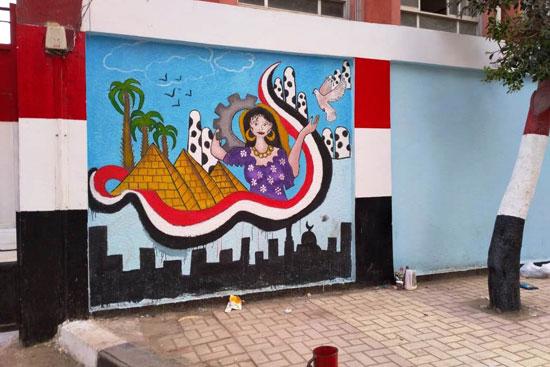 إبداع طلبة كلية التربية النوعية يزين جدران محافظة كفر الشيخ (7)