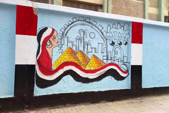 إبداع طلبة كلية التربية النوعية يزين جدران محافظة كفر الشيخ (12)