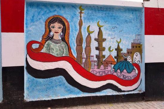 إبداع طلبة كلية التربية النوعية يزين جدران محافظة كفر الشيخ (3)