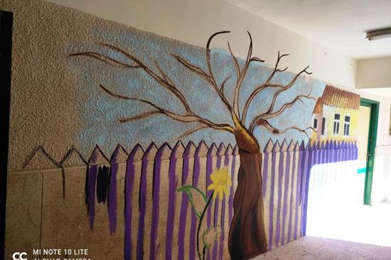 إبداع طلبة كلية التربية النوعية يزين جدران محافظة كفر الشيخ (24)