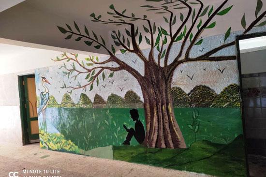 إبداع طلبة كلية التربية النوعية يزين جدران محافظة كفر الشيخ (8)