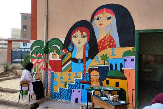 إبداع طلبة كلية التربية النوعية يزين جدران محافظة كفر الشيخ (9)