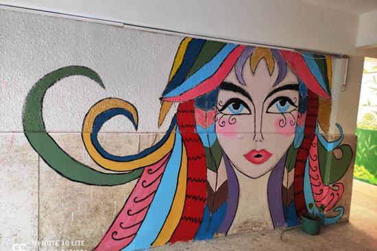 إبداع طلبة كلية التربية النوعية يزين جدران محافظة كفر الشيخ (22)