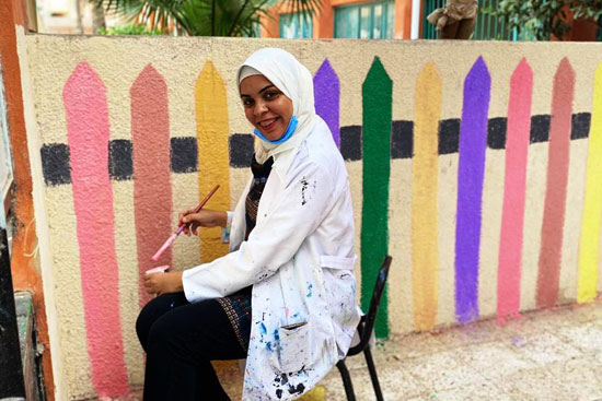 إبداع طلبة كلية التربية النوعية يزين جدران محافظة كفر الشيخ (23)