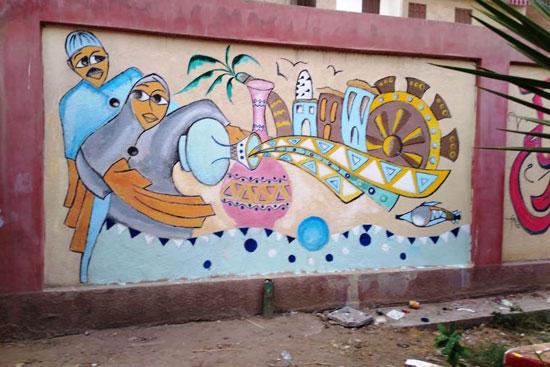 إبداع طلبة كلية التربية النوعية يزين جدران محافظة كفر الشيخ (16)