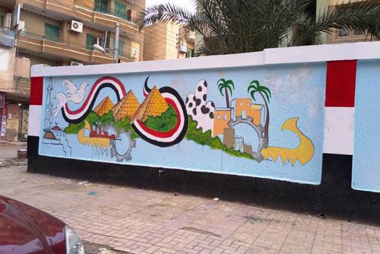إبداع طلبة كلية التربية النوعية يزين جدران محافظة كفر الشيخ (5)