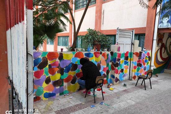 إبداع طلبة كلية التربية النوعية يزين جدران محافظة كفر الشيخ (1)