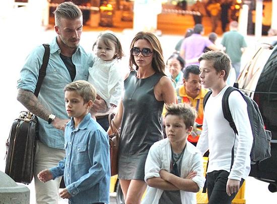 ديفيد بيكهام وعائلته