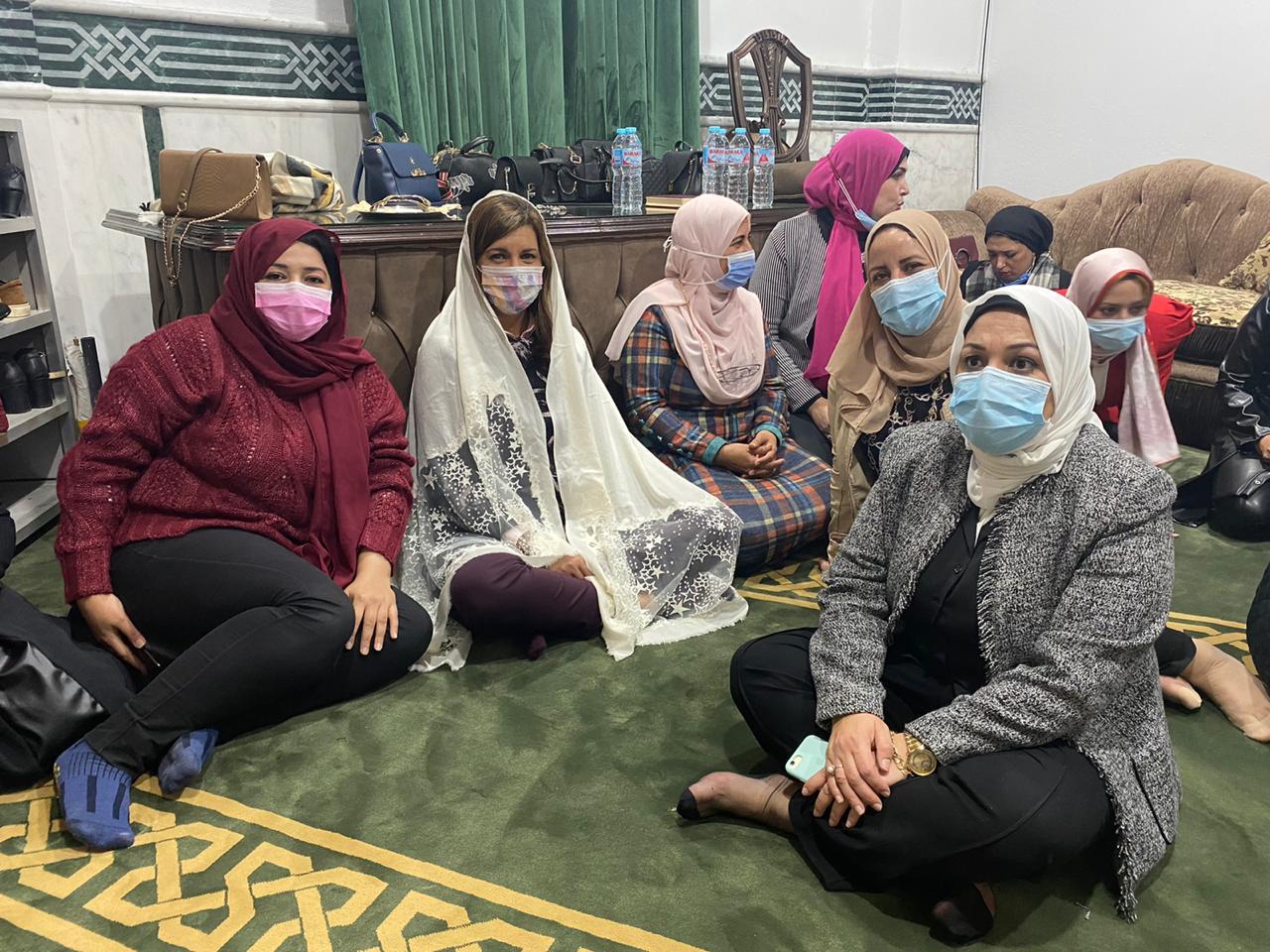 وزيرة الهجرة تحضر خطبة الجمعة بمسجد فى دمياط