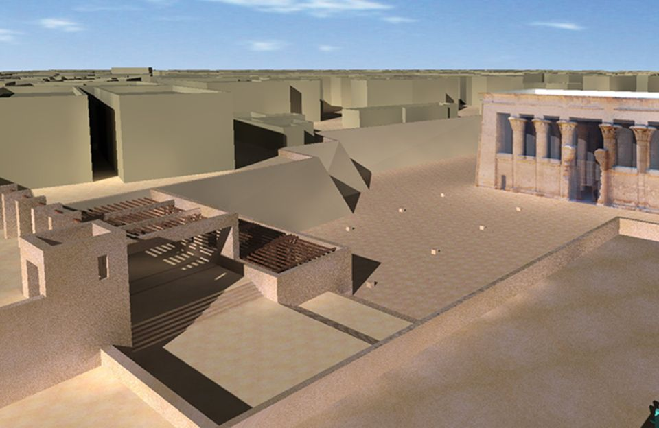 معبد خنوم الفرعونى بمدينة إسنا يشهد أكبر بمشروع قومى  (11)