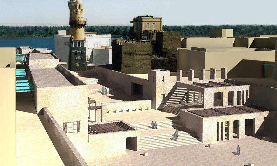 معبد خنوم الفرعونى بمدينة إسنا يشهد أكبر بمشروع قومى  (12)