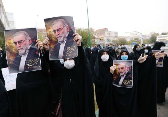 مظاهرات احتجاجا على قتل محسن زاده