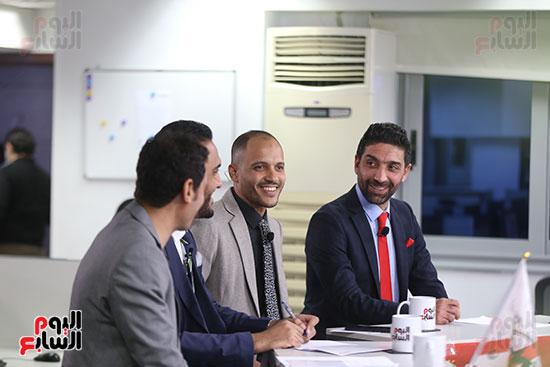 أجواء احتفالية داخل تلفزيون اليوم السابع (12)