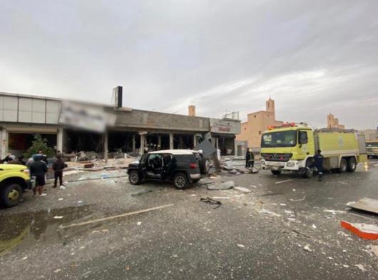 انفجار مطعم الرياض