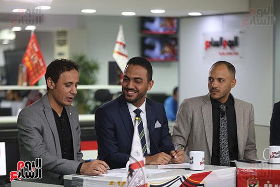 أجواء احتفالية داخل تلفزيون اليوم السابع (13)